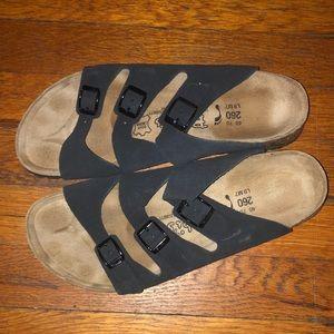 Birkenstock birkis sandals black leather Florida